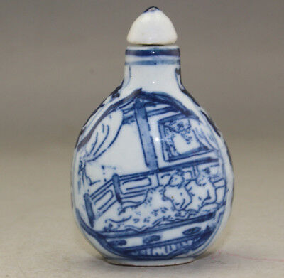 Chinese Hand-made Exquisite porcelain snuff bottle  k262