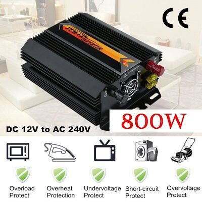 1000W Max 800W Power Inverter Power Wave DC 12V to AC 240V Power Display USB OP