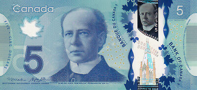 CANADA $5 Unc 2013 BEAUTIFUL POLYMER NOTE!