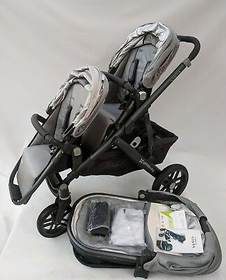 UPPAbaby Vista Pascal grey double stroller