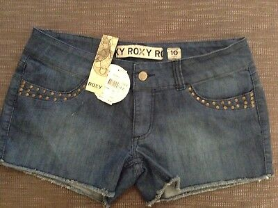 Bnwt Roxy Denim Shorts - Size 10 -  Rrp $79.99