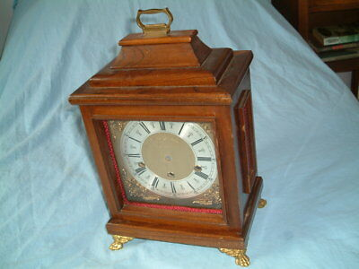Fine Vintage WALNUT BRACKET CLOCK CASE 14.5 For Westminster Whittington Movement