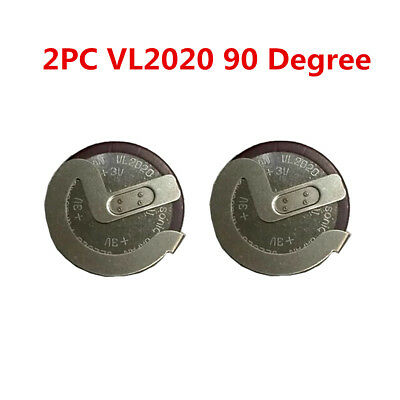 2PCS For BMW Genuine 90 Degrees VL2020 Rechargeable Battery Key Remote Fob Case
