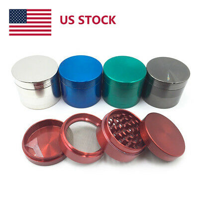 US STOCK 4-layer Zinc Alloy Herbal Herb Tobacco Grinder Smoke Grinder RED Mini