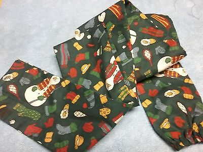 COUNTRY SNOWMAN *SCRUNCHY* STETHoSCOPE COVER 100% Cotton Home Crafted NWOT