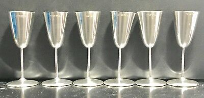 Rare Australian Sterling Solid Silver Goblets Set Or Vodka Cups , Hallmarked