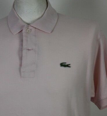 6b37da7e2 LACOSTE Mens Pale Pink Short Sleeved POLO SHIRT LACOSTE Size 5 - Large - L