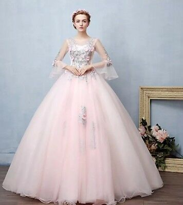 Baby Pink Ball Gown Dress Fluffy