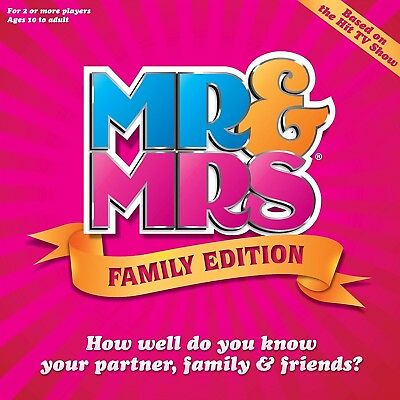 Mr and Mrs Family Edition Box Board Game Fun Kids Adults Couples TV Show Game