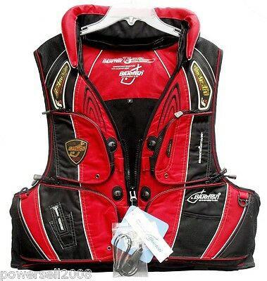 Detachable Multi Pockets Black/Red Adult Fishing/Life Jacket/Floating Vest