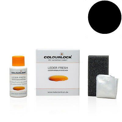 [31,67EUR/100ml] Colourlock Leder Fresh Tönung Mini 30 ml F034 schwarz