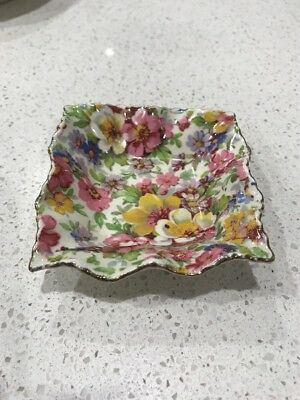 James Kent Du Barry China London Small Condiment Plate/Bowl Floral Beautiful