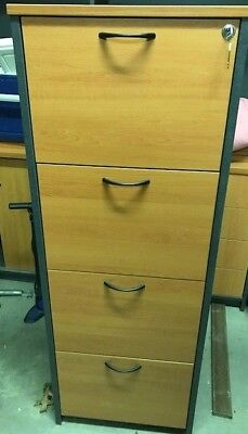 Home office 4 drawer filing cabinet with key lock