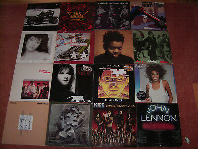 40 LP Vinyl Schallplatten Sammlung Rock/Pop 80er v. Aerosmith bis ZZ Top