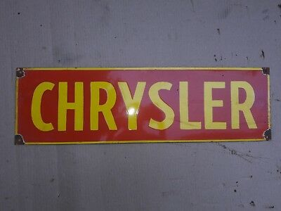 "CHRYSLER Porcelain Sign SIZE 24"" X 7"" INCHES"
