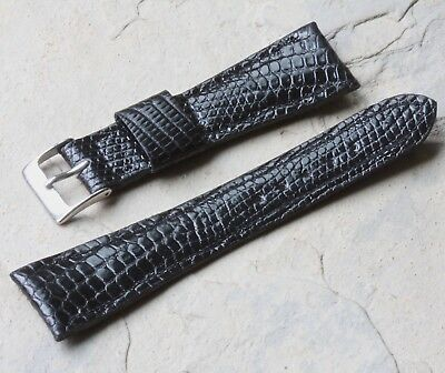 1950s large scales Royale Lizard 22mm watch strap NOS vintage 16mm buckle end
