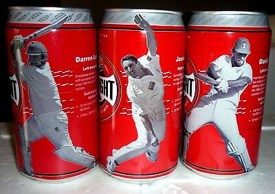 Collectable beercans -  Set of 3 West End Ltd Ed. Cricket cans ( cans 1, 3 & 4)