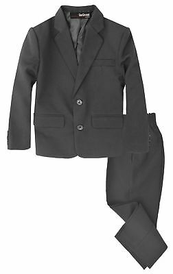 Gino Giovanni Boys 2 Piece Formal Suit Set Charcoal 7