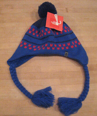 The North Face Youth Winter Ski Hat Clydia Beanie Nautical Blue M Medium New NWT