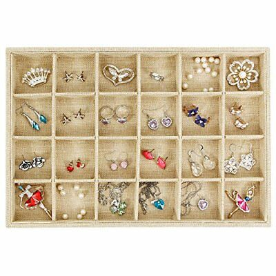 24 Grid Lots  Jewelry Box Display Organizer Storage Case Cabinet Boxes Xmas Gift