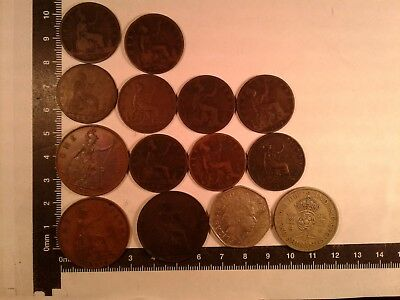 Lot Of 14 Coins Uk (Great Britain) *