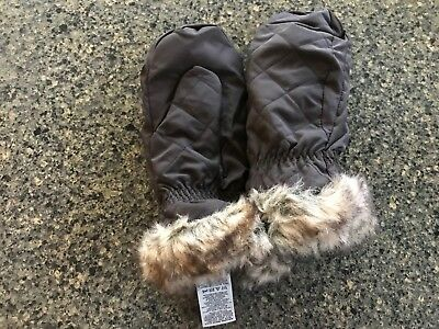 Eddie Bauer Girls Size Large / XL Nylon Insulated Waterproof Mittens Preowned