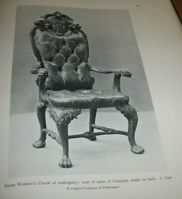 """Antique Mahogany Prime Wardens Chair 1749/ Picture Suitable Framing/12"""" x 8 """""""