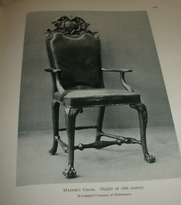 """Antique Masters Chair / Picture/ Suitable Framing/12"""" x 8 """""""
