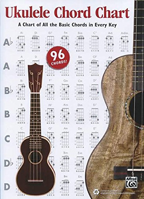 Alfred's Ukulele Chord Chart: A Chart of All the Basic Chords in Every Key, Char