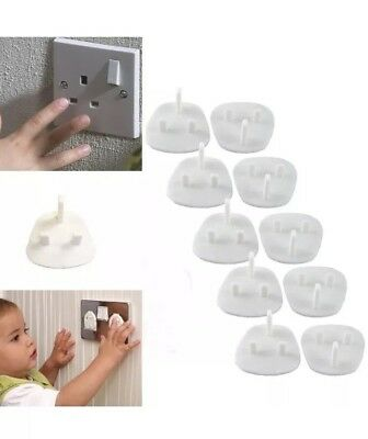 10x Plug Socket Covers Babies Children's Safety Protector for UK 3 Pin Socket UK