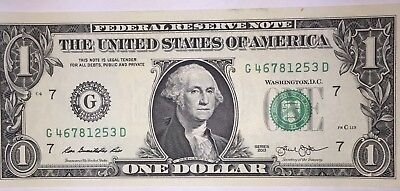 Crisp! $1 UNC Dollar Note Bill LADDER 1-8 MUST SEE - Needs A Forever Home :-)