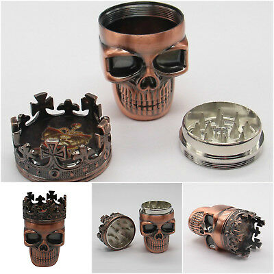 Unique Herbal Skull Grinder For Herb Mill Tobacco Smoke Kitchen Crusher Plastic