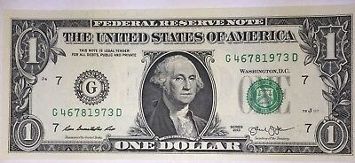 Crisp! $1 UNC Dollar Note Bill BIRTH YEAR - Needs A Forever Home :-) 4678 1973