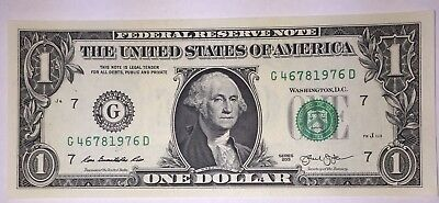 Crisp! $1 UNC Dollar Note Bill BIRTH YEAR - Needs A Forever Home :-) 4678 1976
