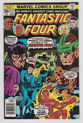 Fantastic Four #177, JACK KIRBY, GEORGE PEREZ, FRIGHTFUL FOUR, Very Good, 1976