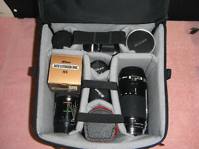 Nikon Nikkor Lens Lot (7 Nikon Lenses, F-Stop Medium Slope ICU Bag and more)