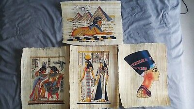 Collections Papyrus Handmade Pharaohs various arts (Set With COA, iHRS Lot C101)