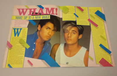 Wham Max Mag Hot Rock Magazine With GIANT Pull Out Poster George Michael
