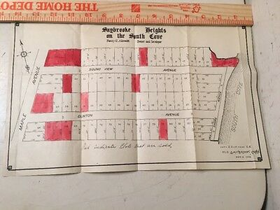 Unique Old Saybrook Heights On South Cove Plot Map 1909 Antique