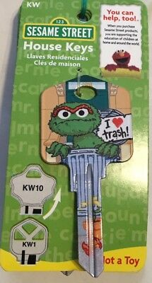The Muppets Oscar The Grouch Key Blank-Kw1-Kw10