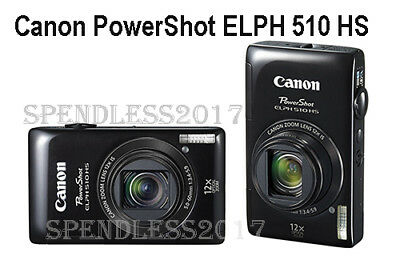 Canon PowerShot ELPH 510 HS 12.1 MP CMOS Digital Camera w/HD Video Made In Japan