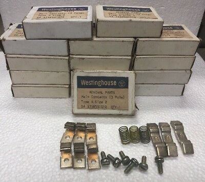 Lot Of 15 New Westinghouse Main Contacts Type A Size 2 3-Pole