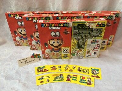 Super Mario Bros. Amiibo Odyssey Cereal (2 Unopened Boxes) + Rare Sticker Bonus