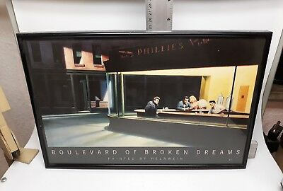 Boulevard of broken dreams painted by Helnwein Poster 80er Jahre 37cm x 24cm