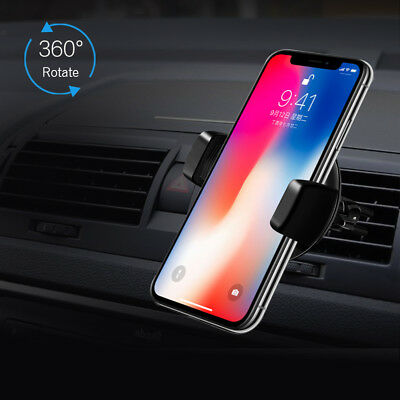 Qi WIRELESS Car Charger Air Vent Mount Holder for Samsung S9 Plus iPhone X