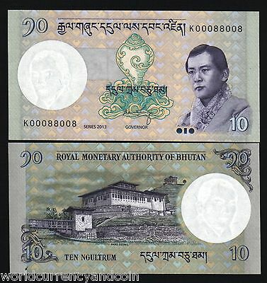 Bhutan 10 Ngultrum P29 2013 New Sign King Jigme Unc Currency Money Bill Banknote