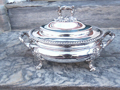 Fabulous Oval Bombe Shaped Old Sheffiled Plated Tureen Circa 1825