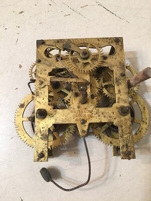Antique Waterbury Steeple Clock 30 Hour Movement