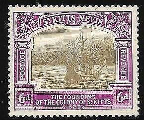 St. Kitts - Nevis Sc #  58   Used  Ship