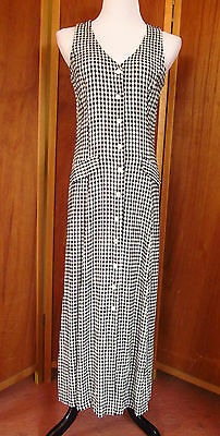 Vtg 70s 80s Clues Collections Hippie Gypsy Pool/Porch Party/Casual Dress USA S